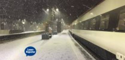 fake-flocken: frühaufsteher freuen sich über schnee in zürich