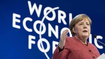 Weltwirtschaftsforum in Davos: Merkel beklagt Unversöhnlichkeit beim Thema Klimawandel