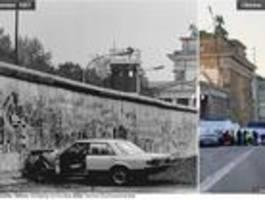 Wo früher die Mauer stand – ein Vorher-Nachher-Vergleich
