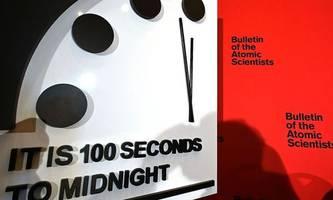 Weltuntergangsuhr bleibt nur noch 100 Sekunden vor Mitternacht stehen