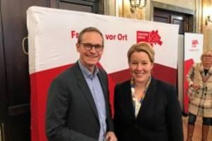 SPD-Klausur: Müller bekommt unerwarteten Besuch von Franziska Giffey