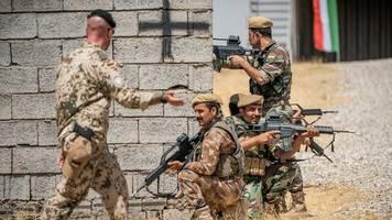 iran-krise: bundeswehr nimmt ausbildung der kurden im nordirak wieder auf