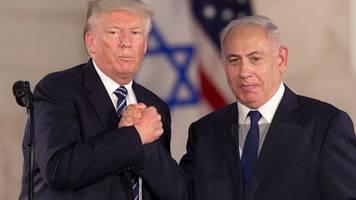 Treffen im Weißen Haus: Trump stellt Netanjahu und Gantz seinen Nahost-Plan vor