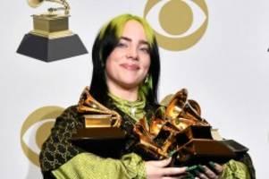 Musikpreise: Grammys: Billie Eilish triumphiert in allen Hauptkategorien