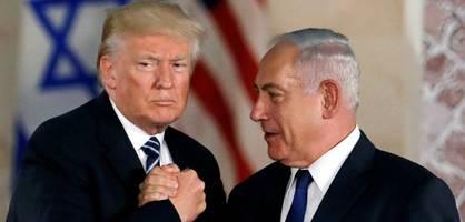 Donald Trump und Benjamin Netanjahu stellen Nahost-Plan vor