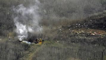 Helikopter-Absturz - Nach Bryant-Unglück: US-Behörde ermittelt zu Absturzursache