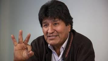 kandidatur eingereicht - bolivien: ex-präsident evo morales will senator werden