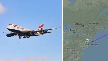 keine fünf stunden: dank sabine: jumbojet fliegt in rekordzeit über den atlantik