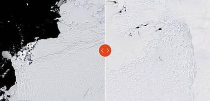 antarktis: zerfall am thwaites-gletscher