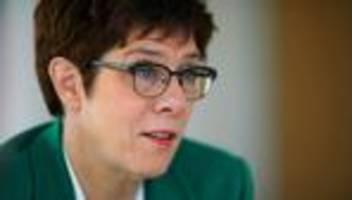 Annegret Kramp-Karrenbauer: Ich habe zu Einzelgesprächen eingeladen