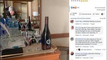 Diamond Princess unter Quarantäne: Wegen Coronavirus gestrandet: Ehepaar lässt sich Wein per Drohne aufs Schiff liefern