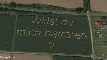 hüttenberg in hessen: diesen heiratsantrag können sie bei google maps sehen