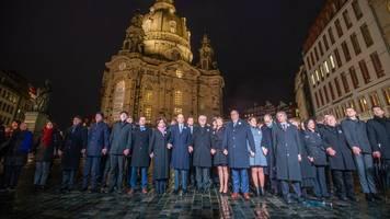 Kriegsgedenken in Dresden: Steinmeier warnt vor Zerstörung der Demokratie von innen