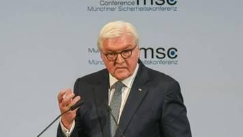 Steinmeier eröffnet Münchner Sicherheitskonferenz mit scharfer Kritik an den USA