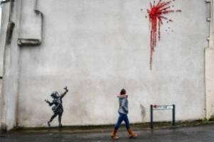 kunst: zum valentinstag: neues banksy-kunstwerk in bristol