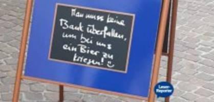 chur: café reagiert mit humor auf den bankräuber