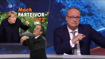 satire-sendung: heute-show zur merkel-nachfolge: ein mann als bundeskanzler - geht das überhaupt?
