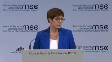 video: akk: europa und deutschland in der pflicht mehr willen zum handeln zu entwickeln