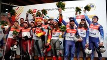 Deutsche Rodel-Staffel feiert WM-Gold