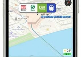 apple: karten-app gibt infos zum nahverkehr