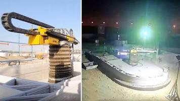 Beeindruckende Technik: Dubai baut größtes 3D-gedrucktes Gebäude der Welt