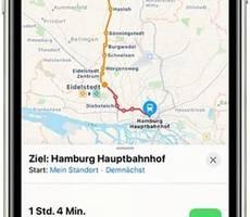 Apple bringt mehr Nahverkehr in die Karten-App