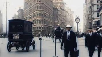 Historische Aufnahmen: New York, 1911, in Farbe: So sah die Metropole kurz vor dem Ersten Weltkrieg aus