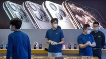 apple nimmt wegen corona-epidemie umsatzprognose zurück