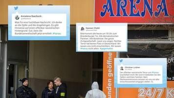 Trauer und Fassungslosigkeit: So reagieren Politiker auf Hanau: Der offenbar rassistische Terror erschüttert mich