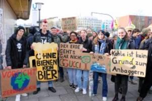 fridays for future: auf klimademo mit aktivisten aus buchholz