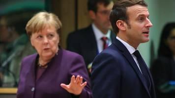 Sondergipfel in Brüssel: Merkel und Macron suchen Bewegung im EU-Haushaltsstreit