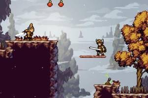 apple knight: pixel-action mit schwert und apfel
