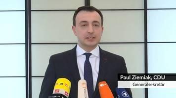 Video: Bundes-CDU gegen Wahl von Ramelow mit Stimmen der CDU