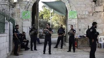 Nahost-Konflikt: Angreifer bei Attacke in Jerusalemer Altstadt erschossen