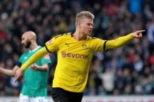 Bundesliga: Vorne Haaland, hinten stabil: Dortmund bleibt im Titelrennen