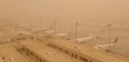 gran canaria: sandsturm aus sahara legt flugverkehr lahm
