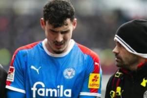 Fußball: Holstein Kiel für einige Woche ohne Stürmer Serra