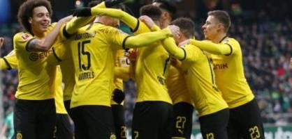 Dortmund gewinnt bei Bremen