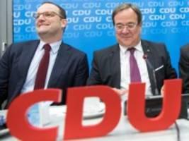 CDU: Laschet und Spahn treten gemeinsam für CDU-Spitze an