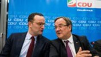 CDU-Vorsitz: Livestream: Armin Laschet und Jens Spahn in der Bundespressekonferenz