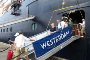 Kreuzfahrtschiff: Coronavirus: Vier Passagiere der Westerdam in Quarantäne