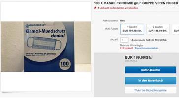 Coronavirus: Atemschutzmasken bei Amazon und Ebay – das Wuchergeschäft mit der Angst