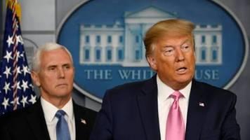 Trump sieht nur sehr geringes Risiko für USA durch Coronavirus