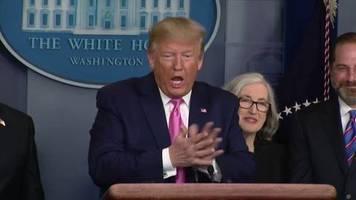 Video: Trump sieht keinen Grund zur Panik