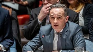 Beratungen UN-Sicherheitsrat: Maas droht Waffenlieferanten im Libyen-Konflikt