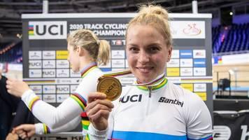 Woidke gratuliert Radsportlerin Emma Hinze zu WM-Gold