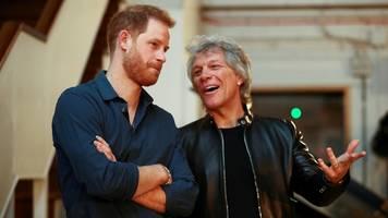 Prinz Harry macht gemeinsame Sache mit Rockstar Jon Bon Jovi