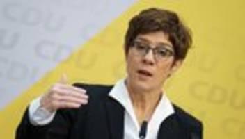 cdu-vorsitz: kramp-karrenbauer wirft merz und röttgen falsche prioritäten vor