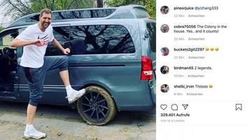 deutsche basketball-legende: nowitzki bleibt im schlamm stecken – und bekommt prominente hilfe