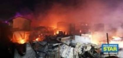 Philippinen: 3000 Menschen sind nach Grossbrand obdachlos